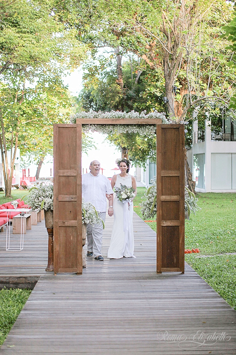 destination photographer Beach wedding thailand