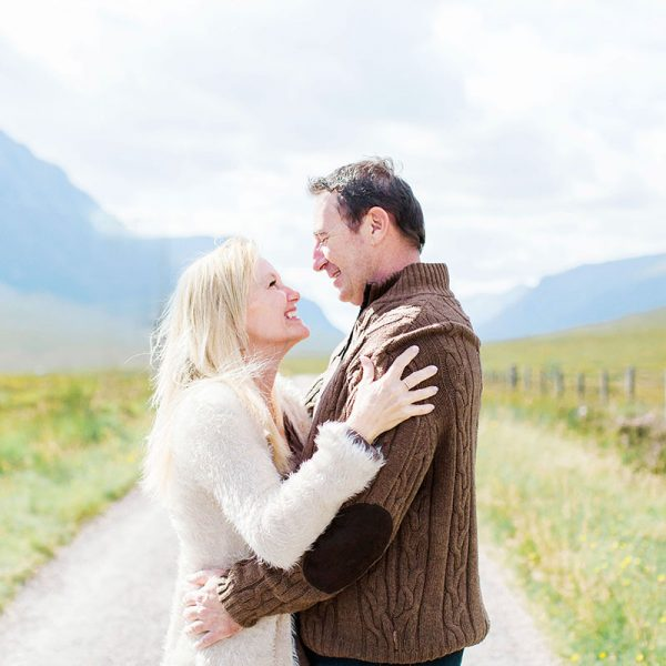 Cassie and Scott Engagement Photoshoot Glencoe