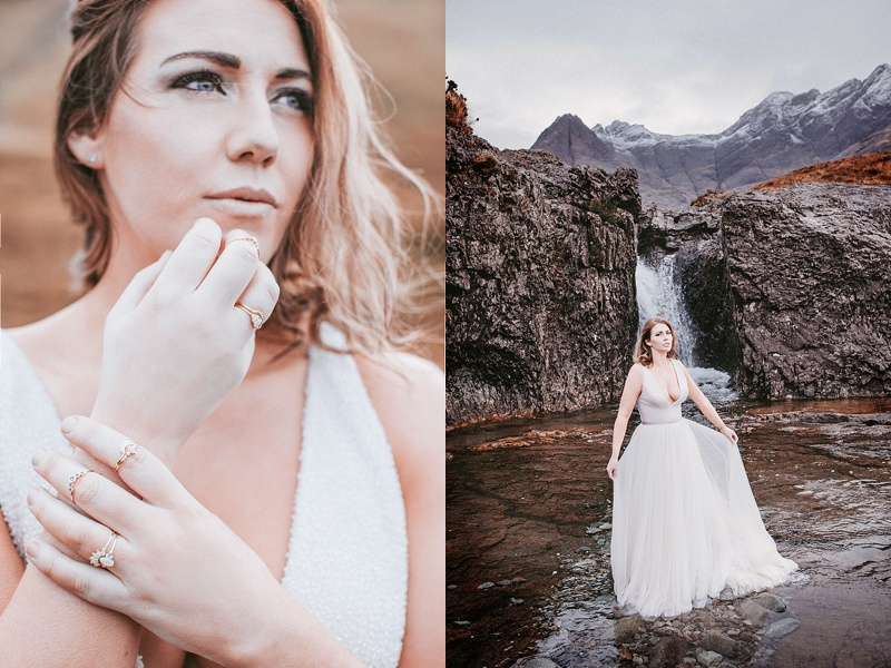 Isle of skye fairytale wedding photoshoot